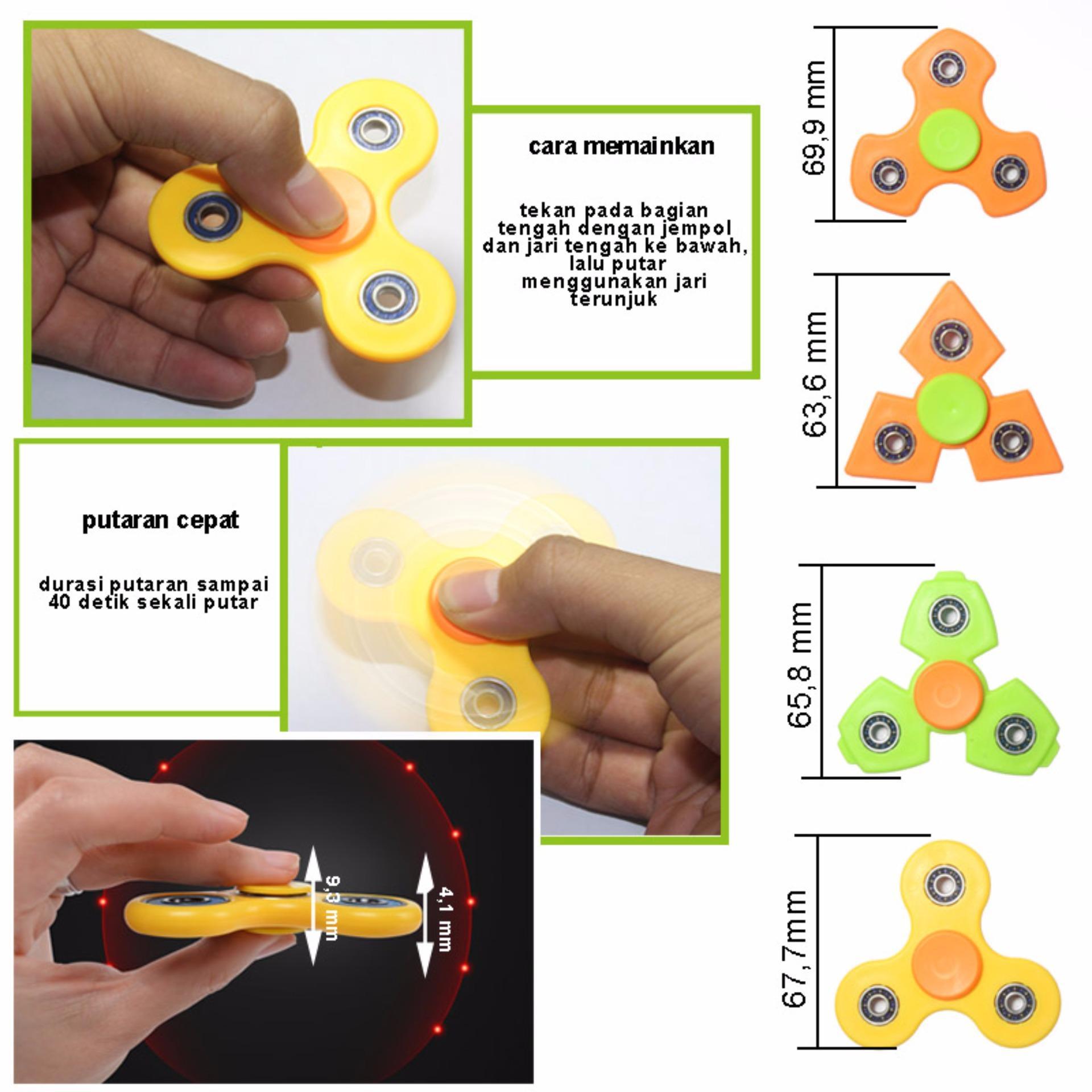 ANGEL LED Fidget Spinner Hand Toys Mainan Tri Spinner EDC Focus Games Penghilang . Source ·