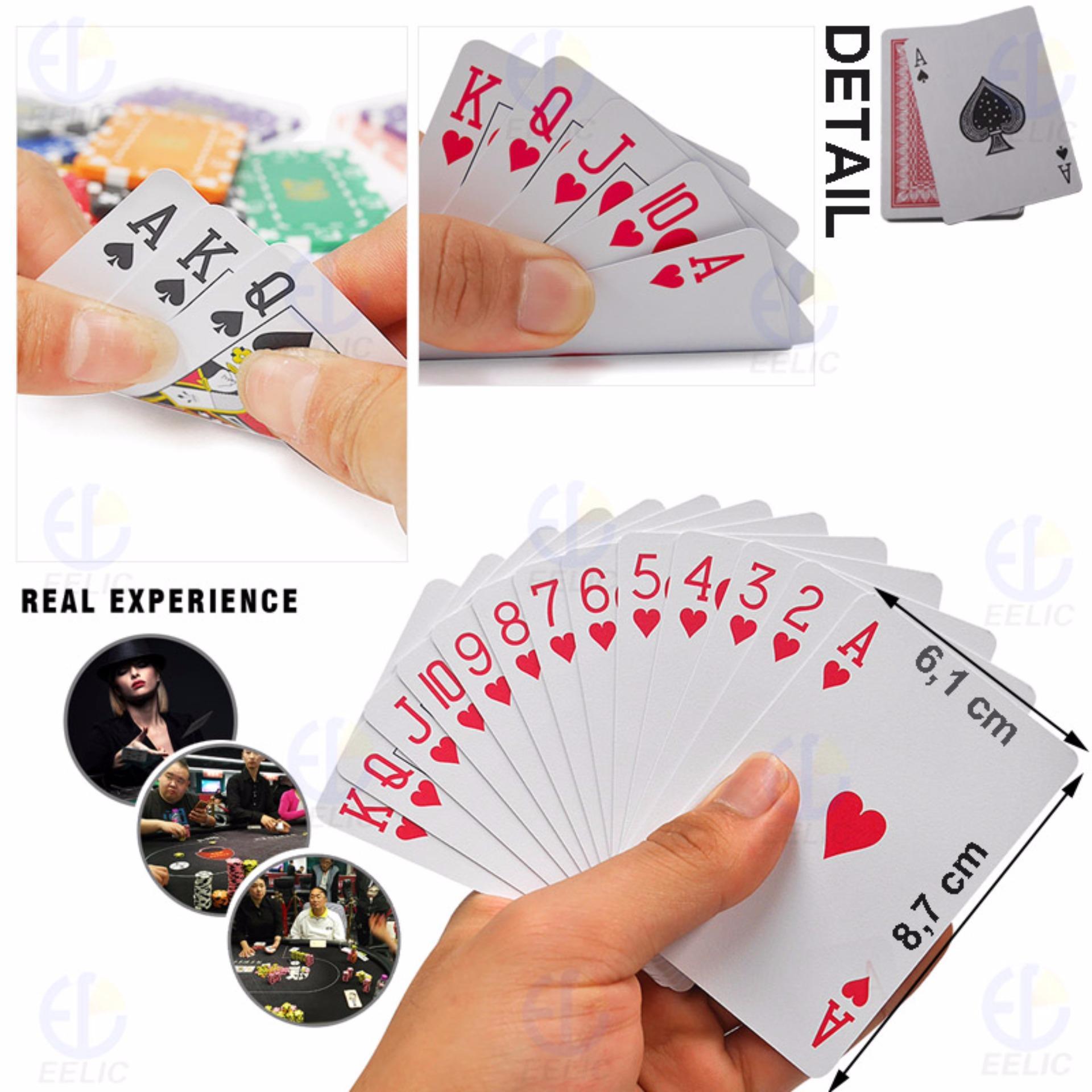 EELIC PLC-POKER MERAH Playing Card Permainan Kartu POKER ATAU REMI .