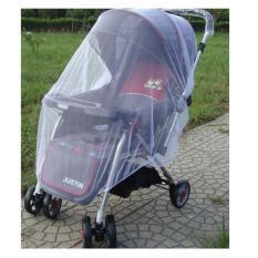 Eigia Kelambu Cover Pelindung Stroller Bayi Anak Jaring Anti Nyamuk Anti Panas - Putih