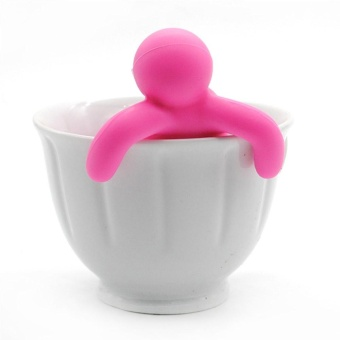 Elife Creative Little Man Shaped Silicon Tea Strainer InfuserFliter Tea Making Tool - intl - 2