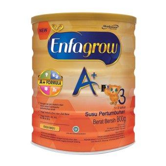 Enfagrow A+ 3 Susu Pertumbuhan - Madu - 800 gr Tin isi 3 Kaleng + Gratis Smart Kinetic Sand + FREE Happy Diapers M 30 (Random Motif) - 2
