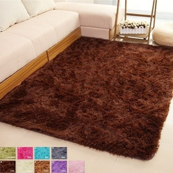 Fang Fang Best Shaggy Carpet Area Rugs For Bedroom Living Room 60cm x 40cm-coffee - intl