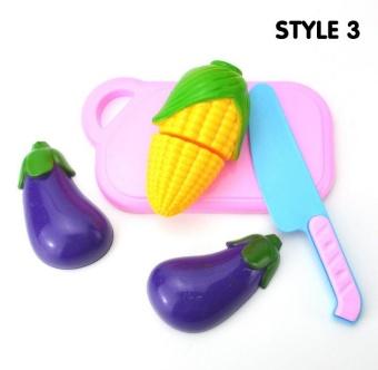 Fantastic Flower 4PCs/set Kitchen Toy Baby Plastic Colorful Cut Fruit Pretend Play House Educational Toys-Fruit - intl - 3