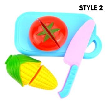 Fantastic Flower 4PCs/set Kitchen Toy Baby Plastic Colorful Cut Fruit Pretend Play House Educational Toys-Fruit - intl - 2