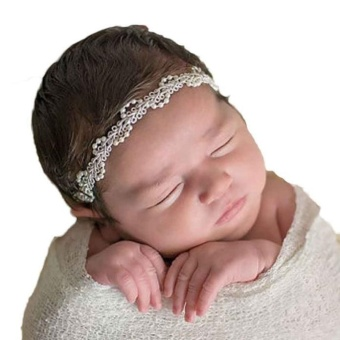Fashion Girls Pearl Hair Band Baby Head Wrap Band Accessories - intl