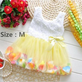 Fashion Lovely Toddler Baby Kid Girls Princess Party Tutu Lace Bow Flower Dresses Skirt Clothes - intl