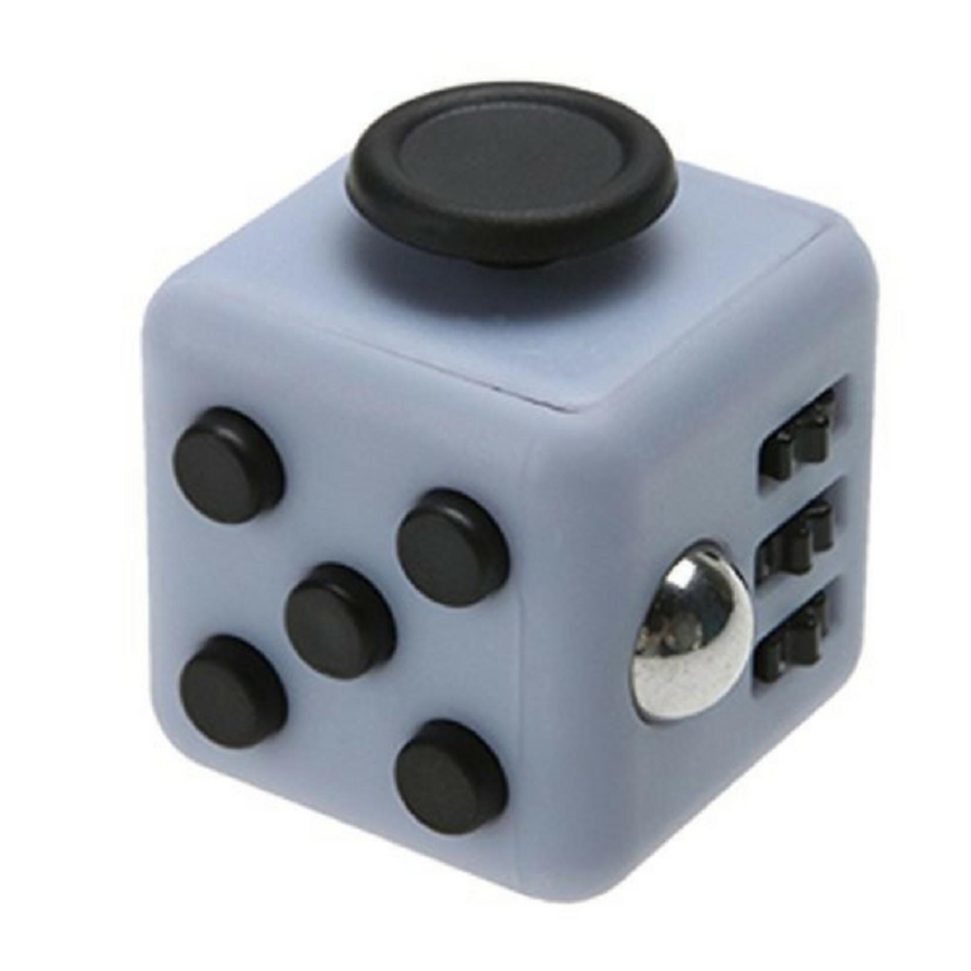 ... Fidget Cube Magic Cube 6 Side Classic - Premium Quality - Light Grey-Black ...