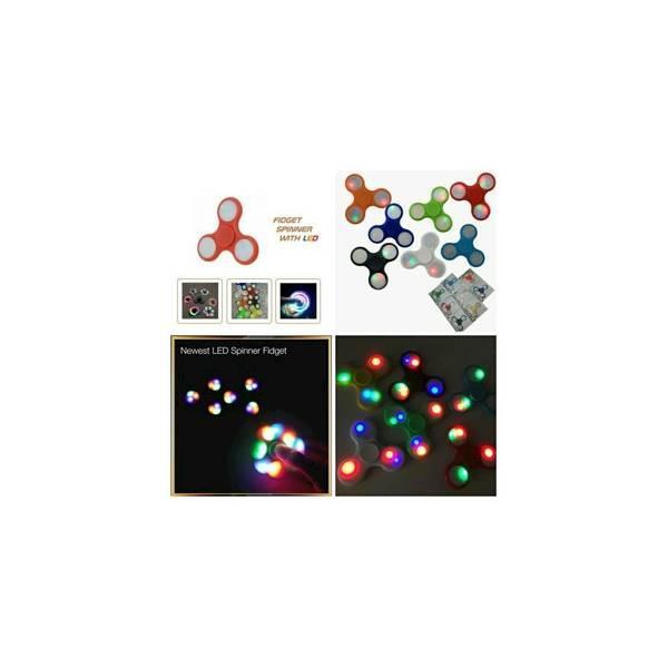 Fidget Hand Spinner / Lampu Led / Lamp Toys Spiner / Mainan JariMURAH
