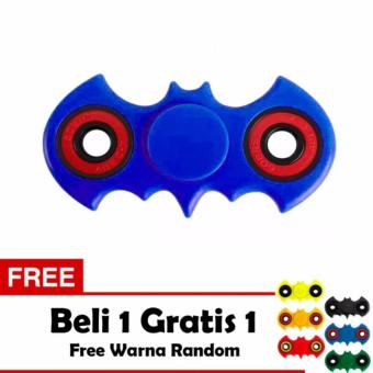 Fidget Spinner Bat-man Hand Toys Mainan EDC Ceramic Ball Focus Games Bartman - Biru