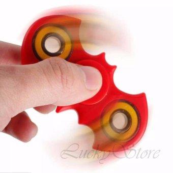 Lucky Fidget Spinner Batm4n Kelelawar Hand Toys Mainan EDC Ceramic Ball Focus Games - Merah /