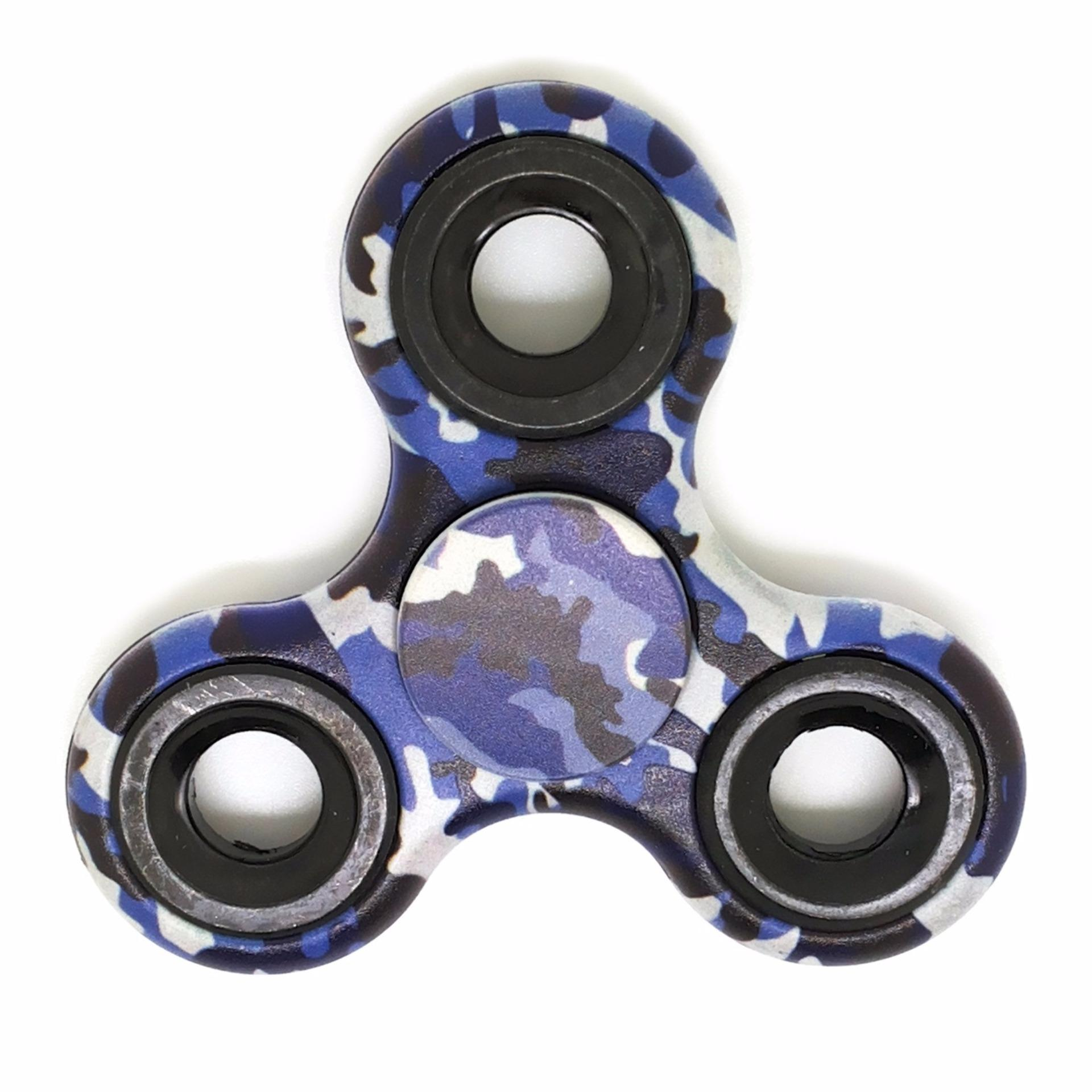 Fidget Spinner Camouflage Camo Metal Hand Finger Toys for Focus Anxiety & Stress Relief EDC Tri