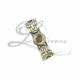 Fidget Spinner Hand Spinner TRANSFORMERS Premium Spiner Besi Transformer Metallic Aluminium Metal Alloy Ceramic Hybrid 2 Sisi Sayap - Random Color - 1 Pcs - 5