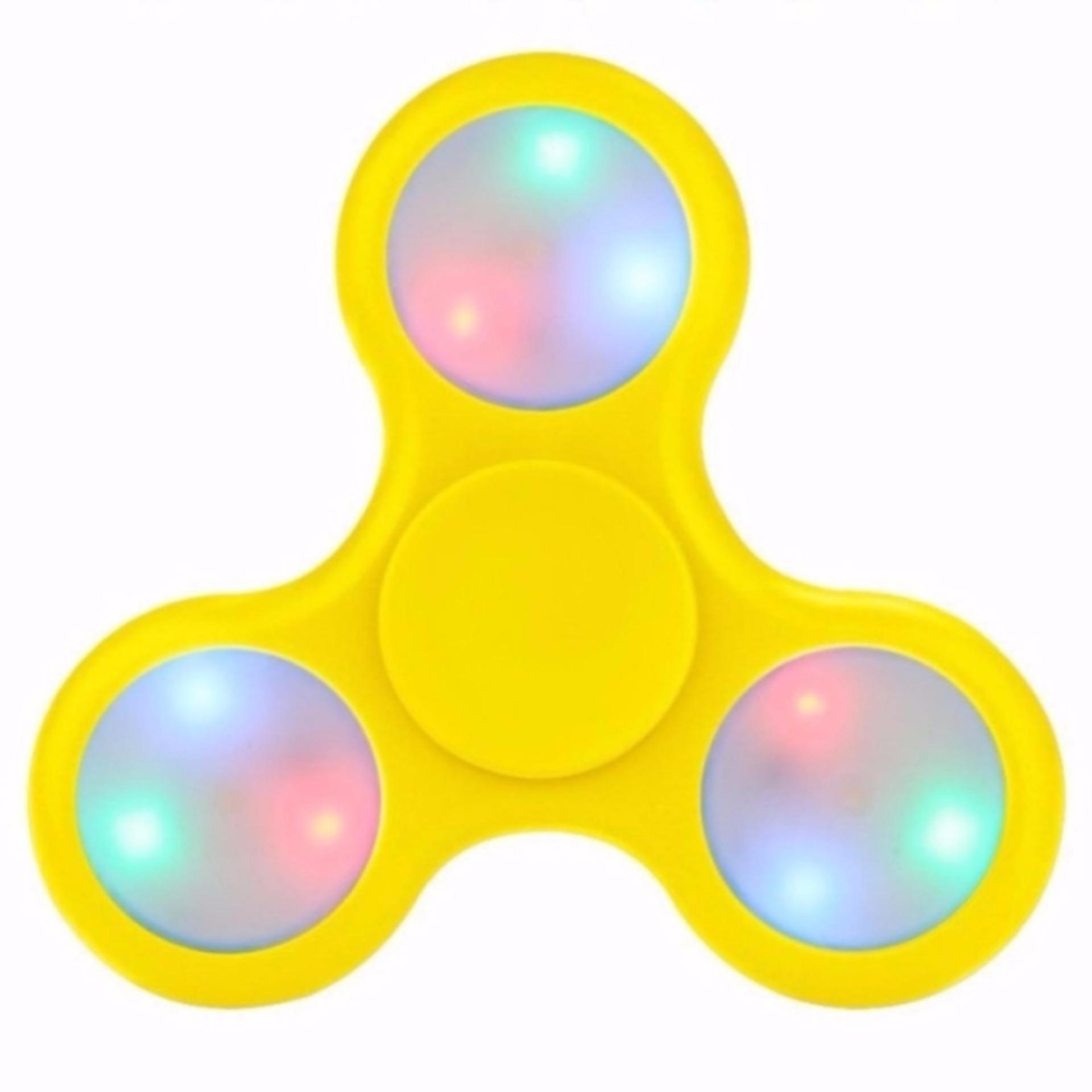 Daftar Harga Fidget Spinner Led Light Colours Hand Finger Toys Spiner Nyala Mainan Jari Tangan Putar Lampu