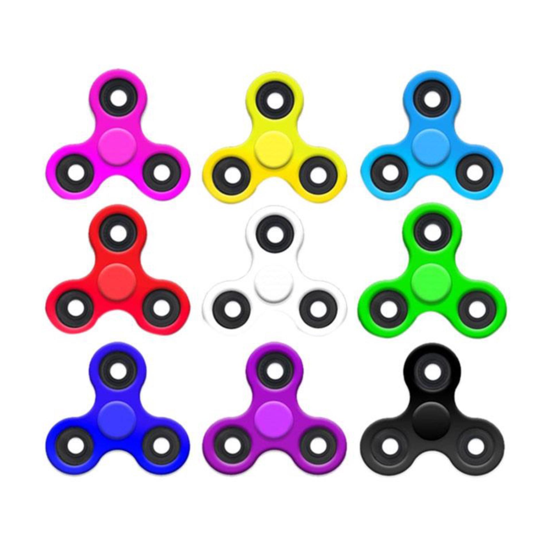 Fidget Spinner Metal Hand Toys Mainan Tri-Spinner EDC Ceramic Ball Focus .