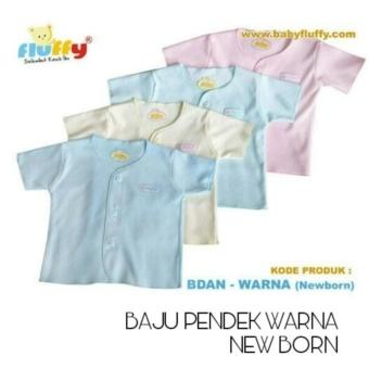 Fluffy Baju Bayi Lengan pendek Newborn Warna isi 3PC