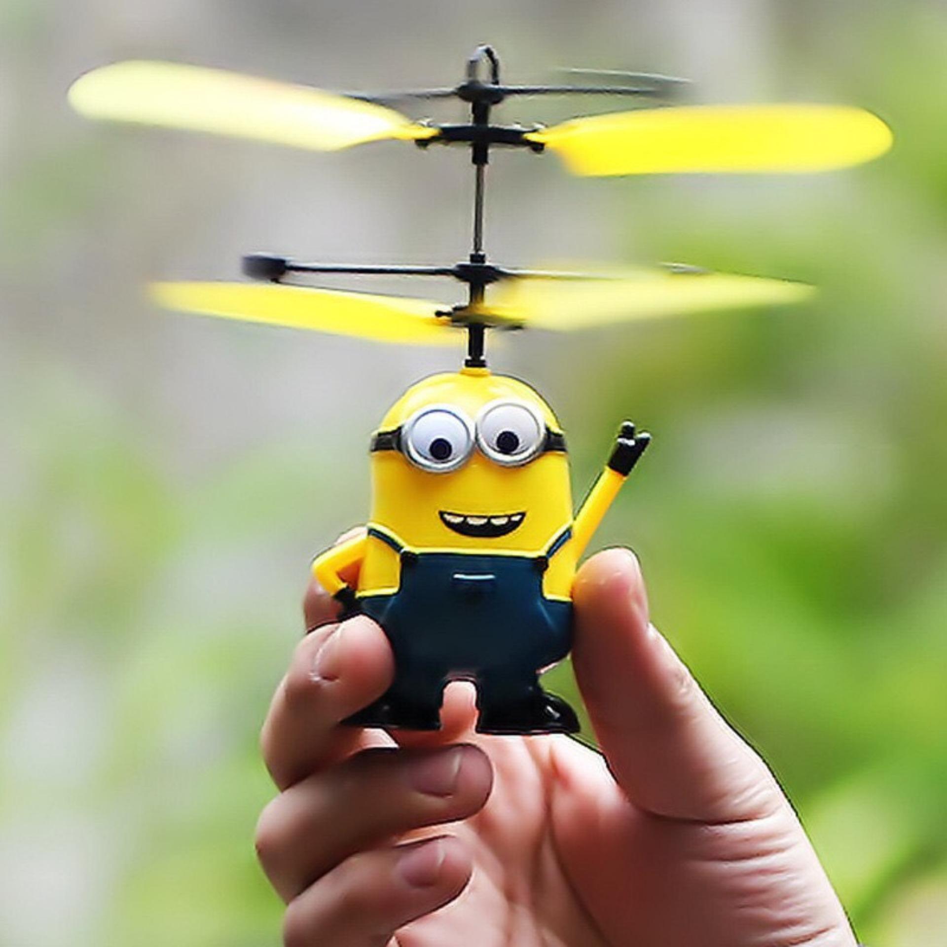... FLYING TOYS MINION KARAKTER MAINAN ANAK HELIKOPTER ...