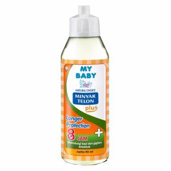 [Free Pouch] My Baby Minyak Telon Plus Longer Protection [90 mL]