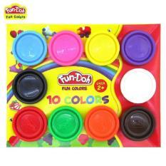 Fun Doh Mainan Anak Edukasi Refill 10 Warna - Play Doh