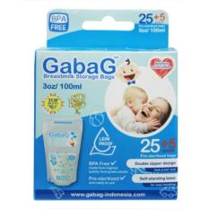 Gabag New Breast Milk Storage - Kantong ASI 100 ml Isi 30 Pcs (Blue)