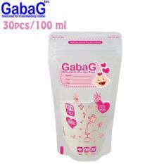 Gabag New Breast Milk Storage - Kantong ASI 100 ml Isi 30 Pcs (Pink)