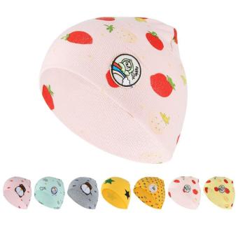 GEMVIE Strawberry Fashion bayi anak bahan katun topi tengkorak danBeanies wol Rajutan topi (berwarna merah