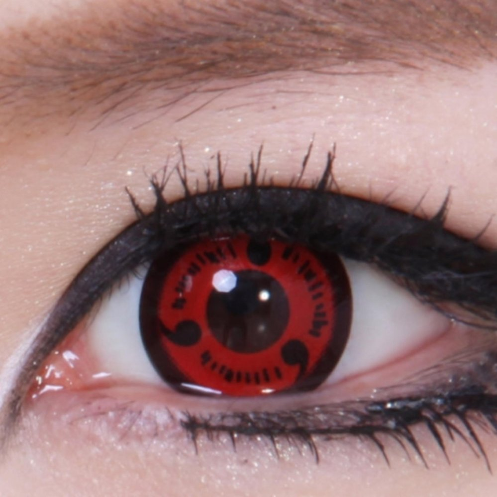 Geo Anime Sharingan CP-S1 - Gratis Solution 60ml + Lens Case