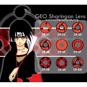 Jual Geo Anime Sharingan CP S8 Gratis Solution 60ml + Lens Case online murah berkualitas. Review Diskon.