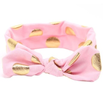 Girls Gilding Headbands Bowknot Hair Accessories For Girls Infant Hair Band - intl
