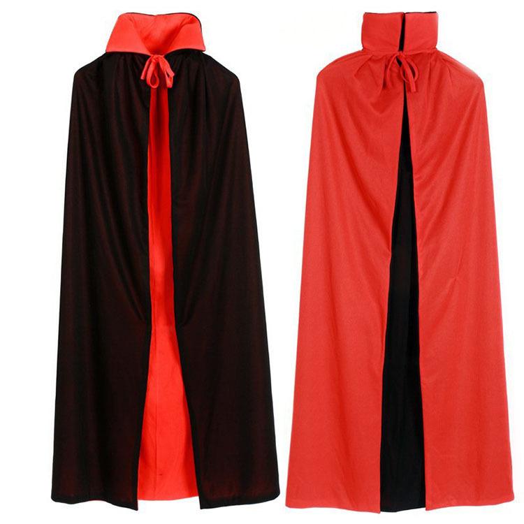 Halloween yang berpakaian jubah vampir 140 cm merah hitam kostum untuk orang dewasa - International