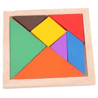 Hang-Qiao Baby Wooden Seven-Piece Puzzle Jigsaw Tangram EducationalToy