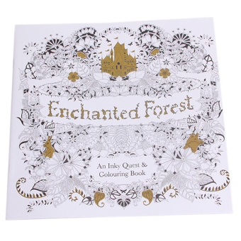 Daftar Harga Hang Qiao Secret Garden Enchanted Forest Coloring Book Black AndWhite Flash Sale