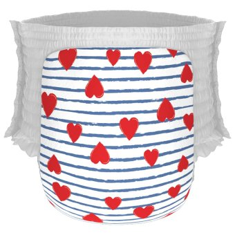 Happy Diapers Pant Popok Bayi - Heart and Stripes - Size XL - 22 pcs