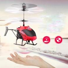 Helikopter Terbang Drone Mainan Anak Sensor Tangan - Merah
