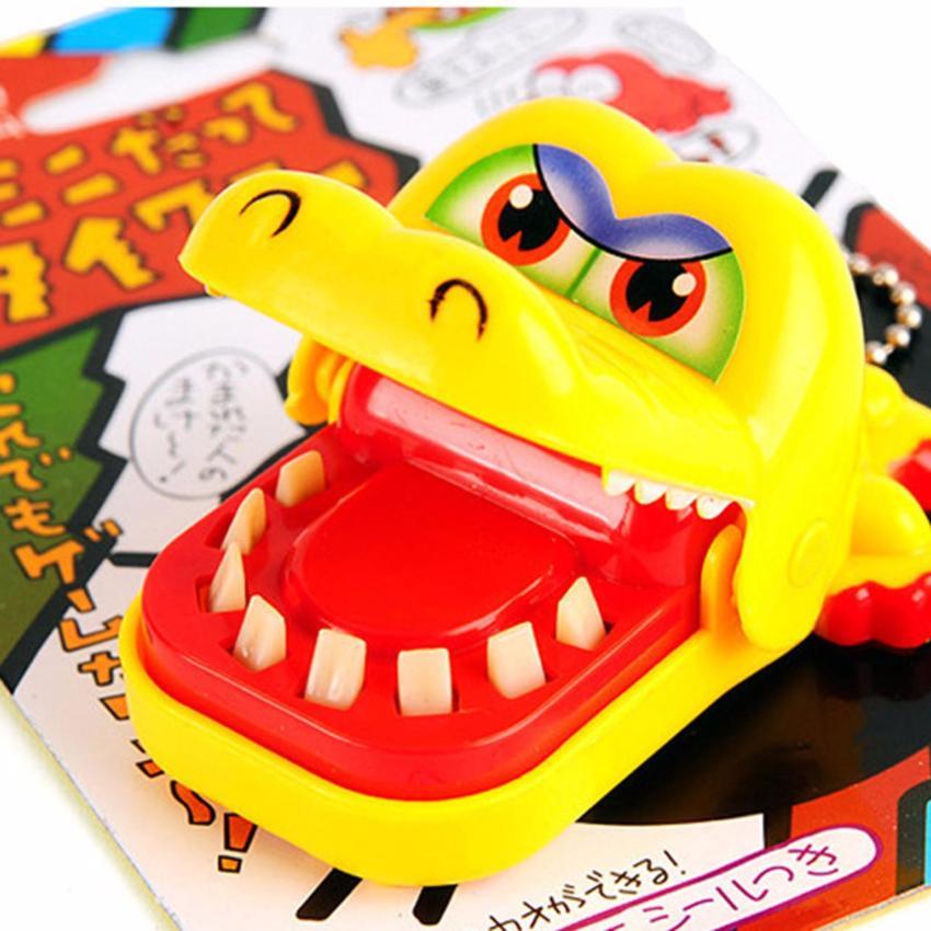Hequ lucu rumit mainan Kreatif besar gigi buaya besar mulutnya akan menggigit jari .