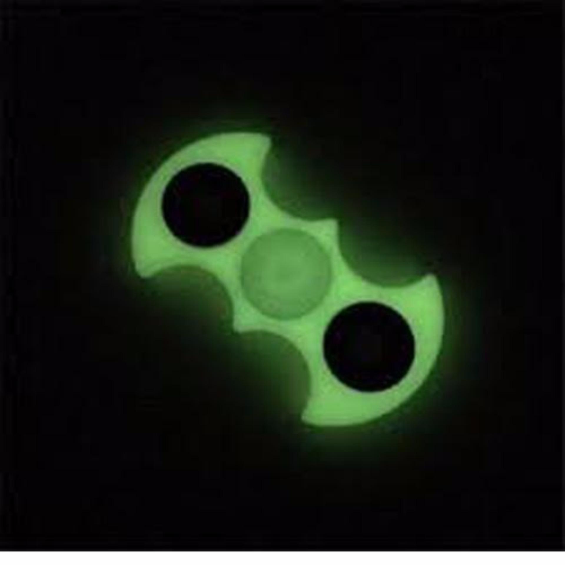 Harga Termurah Hoki Cod Spinner Bat Man Glow In The Dark Pelastik Segi Lima 3 Bola Besi Toys White