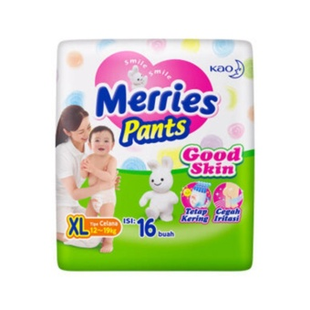 Hot Deal - MERRIES Popok Pants Good Skin XL 16