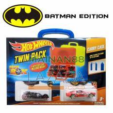 Hot Wheels Batman Tempat Mobil Twin Pack Hot Box isi 2 - Multicolour