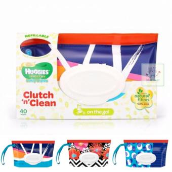 Huggies Clutch 'n' Clean Baby Wipes (40 wipes) (Tempat Tissue /Tissue Basah)