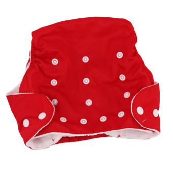 Harga Yingwei New Reusable Nappies for Baby Babies Newborn Cloth Nappy Diapers Adjustable Newborn to Toddler Red