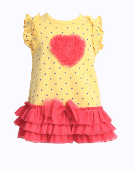 Harga Freeshop Dress Love Tutu F906 - Yellow