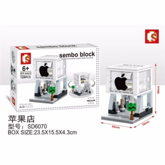 Harga Sembo Block I-Phone Store SD6070 124 Pcs - Mainan Bangunan i-Phone Shop