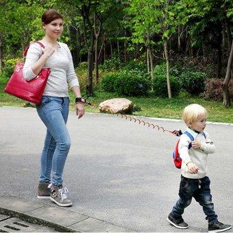 2.5Meters Toptem Baby Child Anti Lost Safety Hook Loop Fastener Wrist Link Rope Band Leash