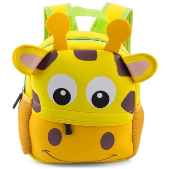 Colorful Cartoon Animal Design Waterproof Durable School Bag for Children (#3) - intl