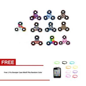 MIX - Fidget Spinner Hand Toys Mainan Tri-Spinner EDC Focus Games Random Motif Free
