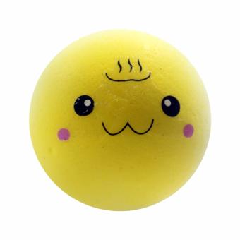 Squishy Small Yellow Emoticon Slow Rising - Murah-Wangi-Gantungan Kunci cute