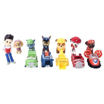 Harga Movie 12pcs PAW PATROL Marshall Rubble Rocky Skye Figure Baby Toys Gift A6