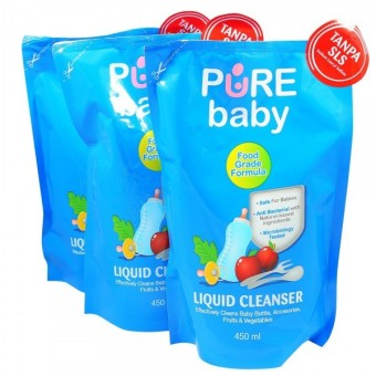 Harga Pure Baby Liquid Cleanser 450ml Refill Buy 2 Get 3