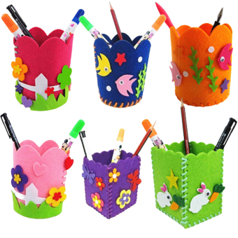 Harga Cute Creative Handmade Pen Container DIY Pencil Holder Kids Craft Toy Kits - intl