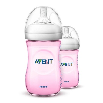 Harga Hot Deal - AVENT Bottle Natural Twin Pack 260ml - Pink *1
