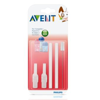 Harga Hot Deal - AVENT Replacement Silicone Straws + Brush *1